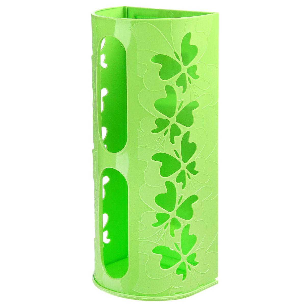 Корзина для пакетов Berossi Fly, цвет: салатовый868661Корзина для пакетов Berossi Fly, изготовлена из высококачественного пластика. Эта практичная корзина наведет порядок в кладовке или кухонном шкафу и позволит хранить пластиковые пакеты или хозяйственные сумочки во всегда доступном месте! Изделие декорировано резным изображением бабочек. Корзина просто подвешивается на дверь шкафчика изнутри или снаружи, в зависимости от назначения. Корзина для пакетов Berossi Fly будет замечательным подарком для поддержания чистоты и порядка. Она сэкономит место, гармонично впишется в интерьер и будет радовать вас уникальным дизайном.