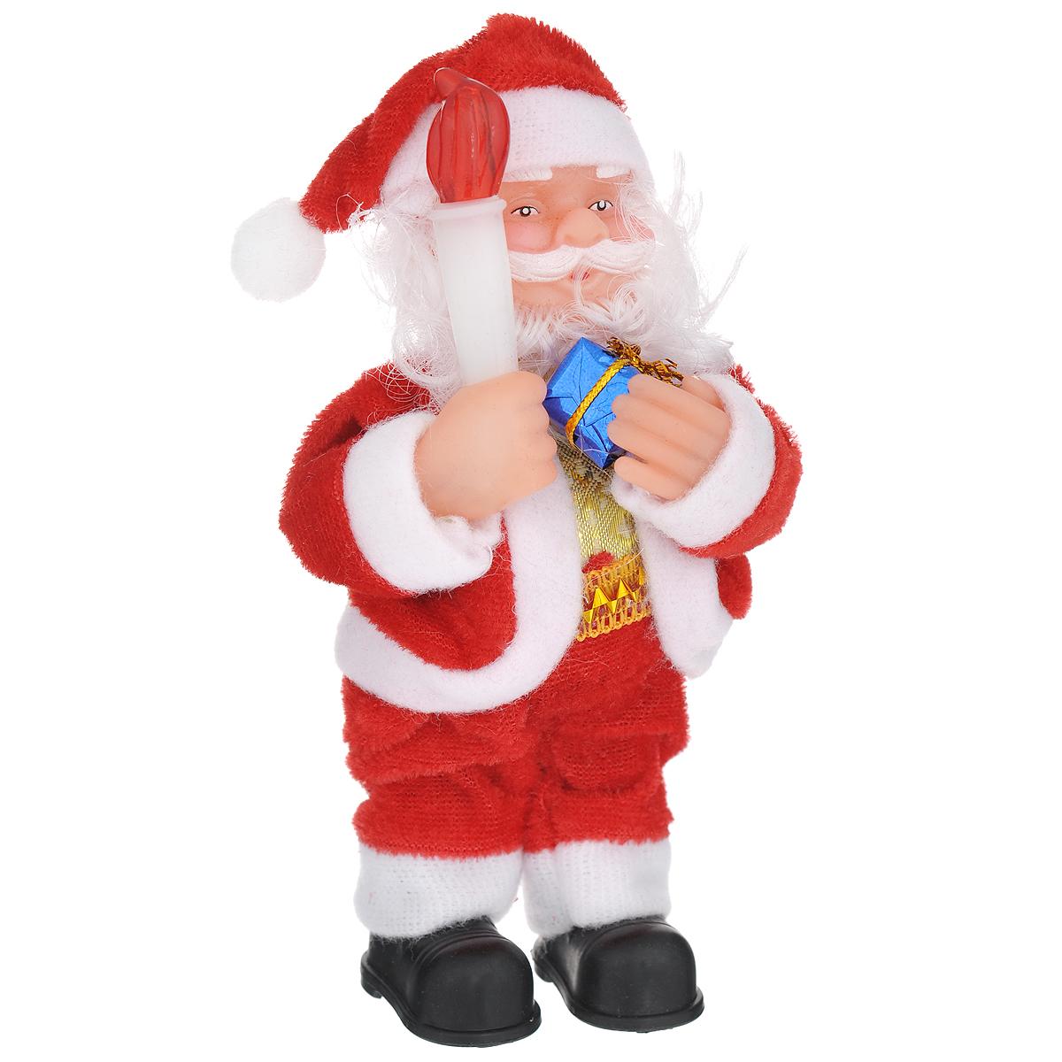 Новогодняя декоративная фигурка Sima-land Дед Мороз, высота 16 см. 703369703369Новогодняя декоративная фигурка выполнена из высококачественного пластика в виде Деда Мороза. Дед Мороз одет в шубу с опушкой. На голове колпак в цвет шубы. В одной руке Дед Мороз держит подарок, а в другой - свечку. Его добрый вид и очаровательная улыбка притягивают к себе восторженные взгляды. Декоративная фигурка Дед Мороз подойдет для оформления новогоднего интерьера и принесет с собой атмосферу радости и веселья.