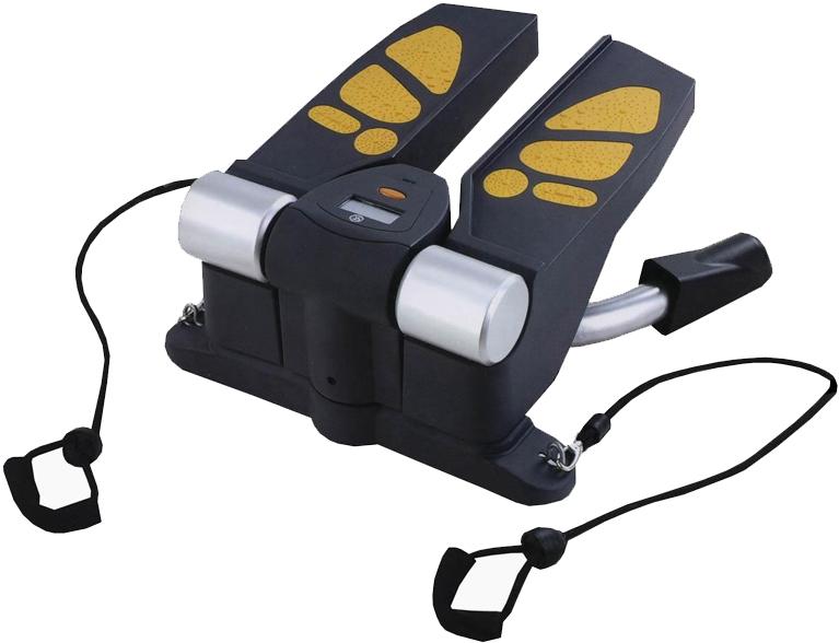 Министеппер поворотный Sport Elit, с эспандерами. SE-5115SE-5115Министеппер поворотный Sport Elit предназначен для выполнения упражнений, оказывающих влияние на форму мышц ног, бедер, ягодиц, а также талии, и группы мышц рук и спины. Позволяет укрепить и поддерживать в тонусе мышцы ног и внутреннюю поверхность бедра. Эргономичный дизайн подходит для занятий фитнесом в любом возрасте. Удобные педали выполнены из противоскользящего материала с яркими ставками оранжевого цвета в форме следа человеческой ступни. На этом министеппере можно выполнять следующие упражнения на мышцы ног и рук в сочетании друг с другом: — свободный шаг, — приседания, — движения тазобедренной частью, — упражнение для бицепсов, — упражнение для плечевого пояса, — упражнения для дельтовидных мышц, Ключевые преимущества: — Основа конструкции изготовлена из прочной стали, — Пластиковые детали выполнены из материала ABS, — Эспандеры для верхнего плечевого пояса, — Покрытие педалей:...