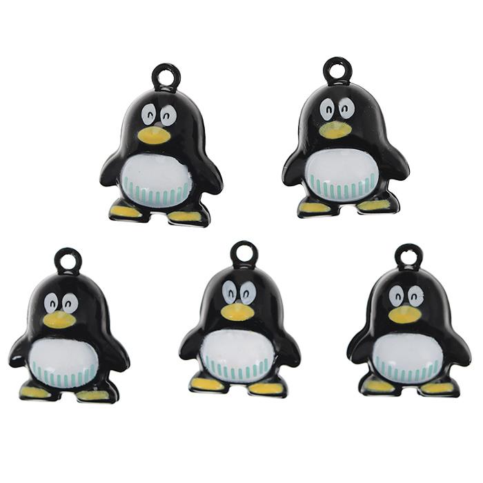 Набор бубенчиков Пингвин, 5 шт7704249Набор бубенчиков Пингвин, изготовленный из металлического сплава, позволит вам своими руками создать оригинальные аксессуары или красиво украсить одежду. Бубенчики выполнены в виде пингвинов. Изготовление украшений - занимательное хобби и реализация творческих способностей рукодельницы, это возможность создания неповторимого индивидуального подарка.