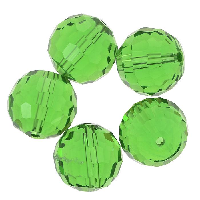 Бусины Астра, цвет: зеленый (10), диаметр 15 мм, 5 шт. 7705646_107705646_10Набор бусин Астра, изготовленный из стекла, позволит вам своими руками создать оригинальные ожерелья, бусы или браслеты. Бусины выполнены круглой формы с рельефными, многогранными поверхностями. Изготовление украшений - занимательное хобби и реализация творческих способностей рукодельницы, это возможность создания неповторимого индивидуального подарка.