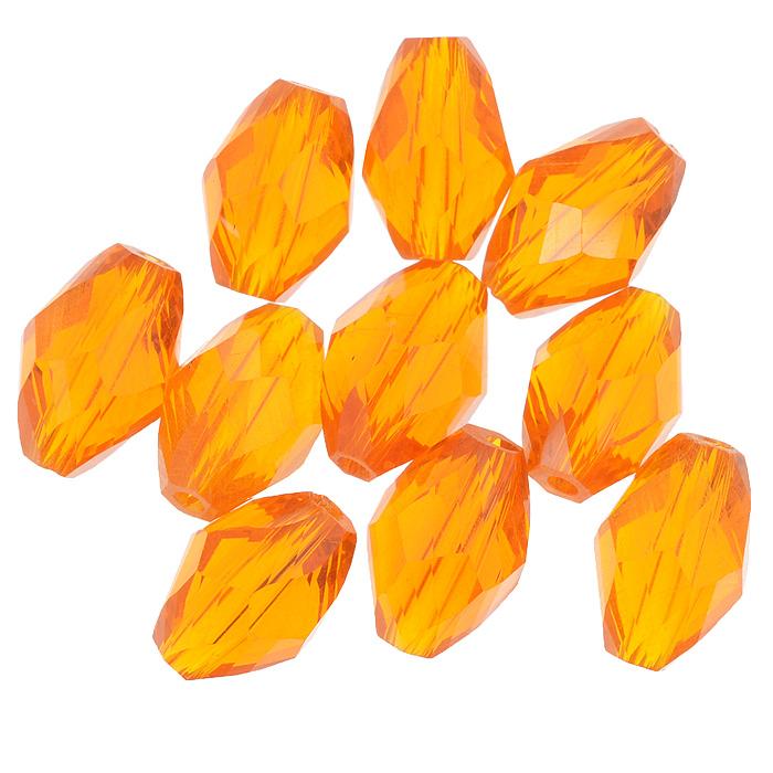 Бусины Астра, цвет: оранжевый (24), 11 мм х 8 мм, 10 шт. 7702761_247702761_24Набор бусин Астра, изготовленный из стекла, позволит вам своими руками создать оригинальные ожерелья, бусы или браслеты. Бусины выполнены овальной формы с рельефными, многогранными поверхностями. Изготовление украшений - занимательное хобби и реализация творческих способностей рукодельницы, это возможность создания неповторимого индивидуального подарка.