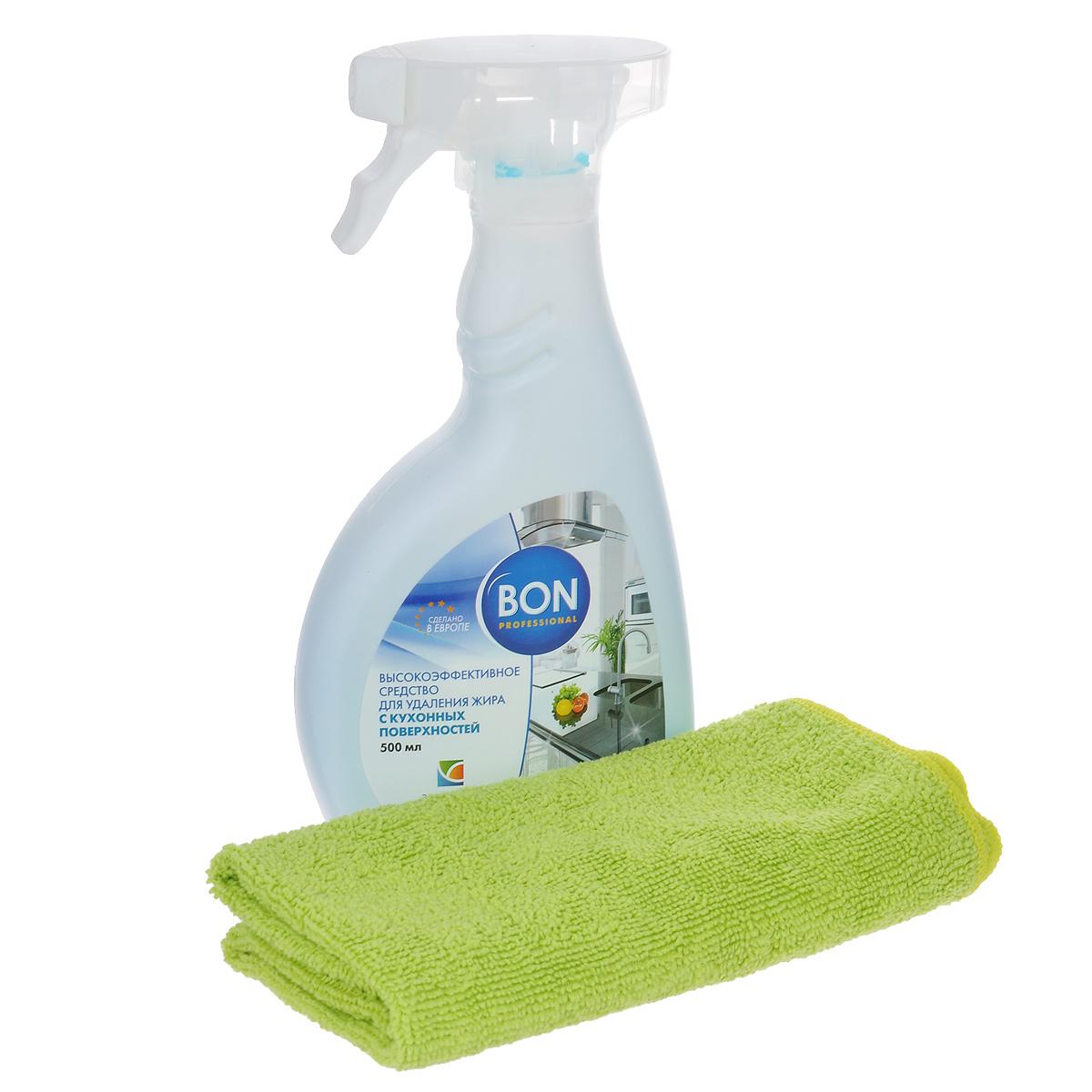 Набор для ухода за кухонными поверхностями Bon, 2 предметаBN-21061Набор для ухода за кухонными поверхностями Bon состоит из средства для удаления жира с распылителем и салфетки из микрофибры. Средство эффективно удаляет жировые отложения со всех типов поверхностей на кухне. Обеспечивает антибактериальный эффект, уничтожая микроорганизмы и бактерии. Создает на кухне идеальные гигиенические условия. Не оставляет никаких следов на очищаемой поверхности. Безопасно для окружающей среды, биологически перерабатывается более чем на 90%. Без запаха. Салфетка из микрофибры предназначена для очистки поверхностей кухни от любых видов загрязнений, для полировки и придания блеска. Идеально подходит для использования со средствами Bon для ухода за кухонными поверхностями. Не оставляет разводов и ворсинок. Обладает повышенной прочностью. В одном наборе Bon есть все необходимое для качественного ухода за кухонными поверхностями. Состав средства: вода, ...