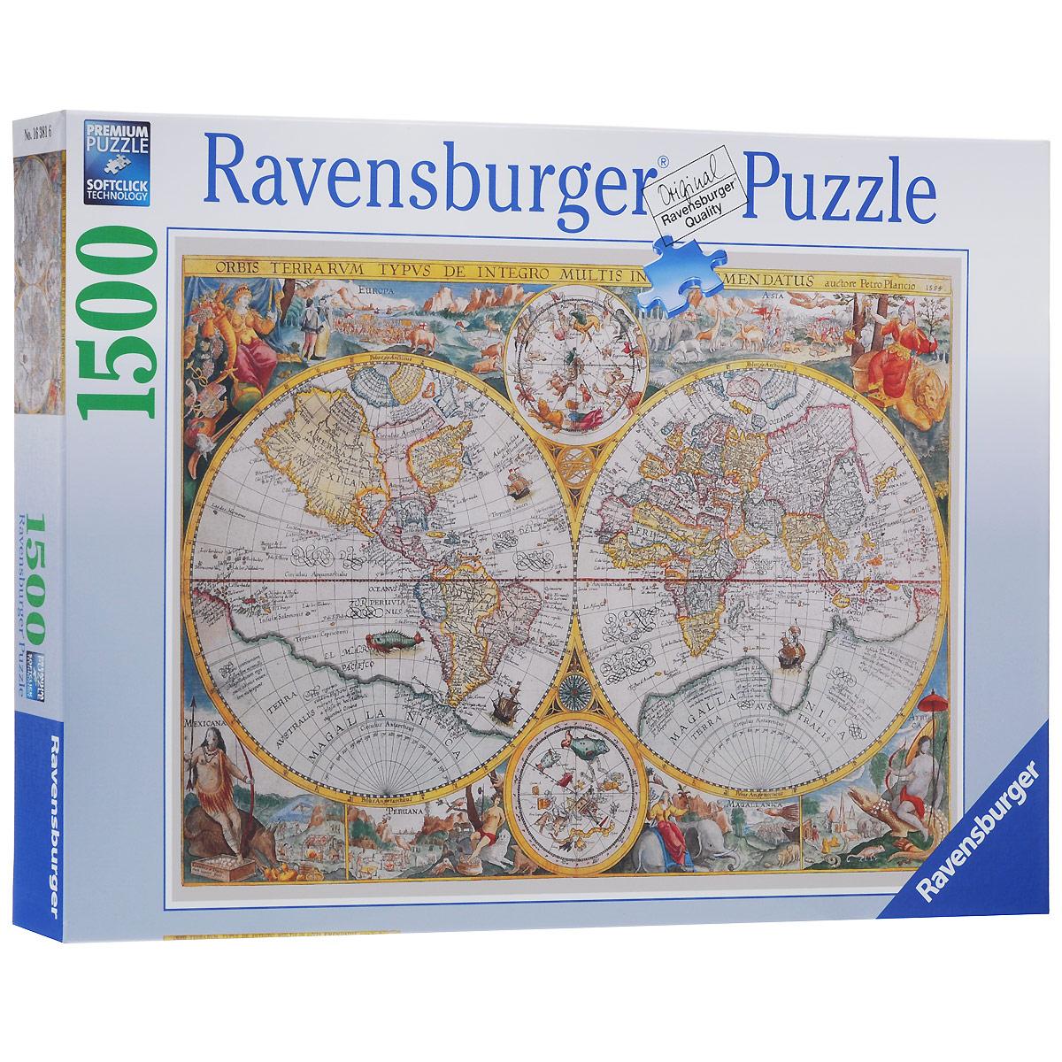 Ravensburger Историческая карта. Пазл, 1500 элементов