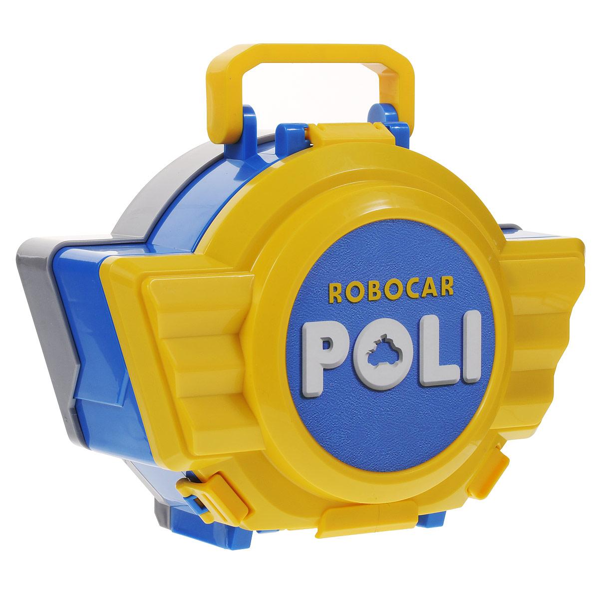 Robocar Poli Игрушка-кейс для трансформера Поли цвет желтый синий83076Игрушка-кейс для трансформера Поли непременно понравится вашему малышу. Он выполнен из прочного пластика желтого и синего цветов и закрывается крышкой на защелки. Внутри находится круглая платформа, приподнимающаяся при открытии кейса. Полицейской машинке Поли в нем будет уютно. Кейс оснащен ручкой для переноски. Ваш ребенок будет в восторге от такого подарка!