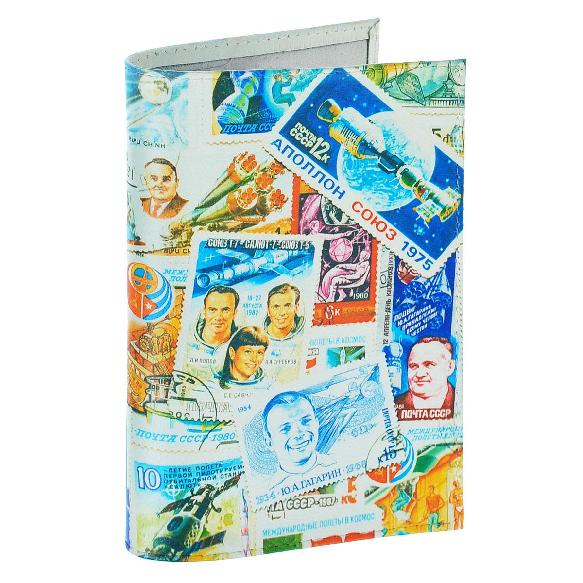 Обложка для паспорта Космос (марки). OK271OK271Обложка для паспорта Mitya Veselkov Космос. Марки выполнена из натуральной кожи и оформлена изображениями почтовых марок с космической тематикой. Такая обложка не только поможет сохранить внешний вид ваших документов и защитит их от повреждений, но и станет стильным аксессуаром, идеально подходящим вашему образу. Яркая и оригинальная обложка подчеркнет вашу индивидуальность и изысканный вкус. Обложка для паспорта стильного дизайна может быть достойным и оригинальным подарком.