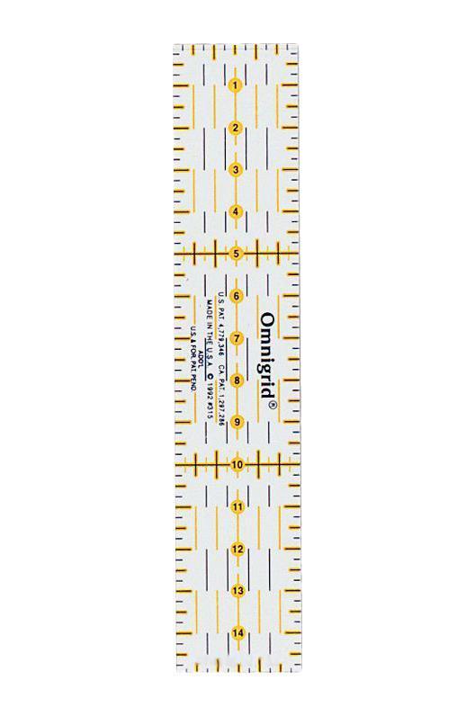 """Линейка универсальная """"Prym"""" для пэчворка, с сантиметровой шкалой, 15 см 611317"""