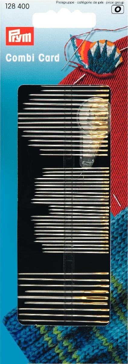 Иглы ручные Prym, 50 шт128400Ручные иглы Prym изготовлены из стали высокого качества с золотистыми ушками. Предназначены для ручного шитья, вышивки и штопки. В наборе - нитевдеватель.
