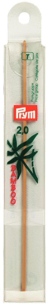 Крючок для вязания Prym, бамбуковый, диаметр 2 мм, длина 15 см195600Крючок Prym изготовлен из высококачественной древесины бамбука и предназначен для вязания и плетения из ниток, ручного изготовления полотна. Вязание крючком применяют как для изготовления одежды целиком, так и отделочных элементов одежды или украшений. Вы сможете вязать для себя и делать подарки друзьям. Рукоделие всегда считалось изысканным, благородным делом. Работа, сделанная своими руками, долго будет радовать вас и ваших близких. Подарок, выполненный собственноручно, станет самым ценным для друзей и знакомых.