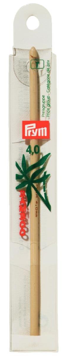 Крючок для вязания Prym, бамбуковый, диаметр 4 мм, длина 15 см195604Крючок Prym изготовлен из высококачественной древесины бамбука и предназначен для вязания и плетения из ниток, ручного изготовления полотна. Вязание крючком применяют как для изготовления одежды целиком, так и отделочных элементов одежды или украшений. Вы сможете вязать для себя и делать подарки друзьям. Рукоделие всегда считалось изысканным, благородным делом. Работа, сделанная своими руками, долго будет радовать вас и ваших близких. Подарок, выполненный собственноручно, станет самым ценным для друзей и знакомых.