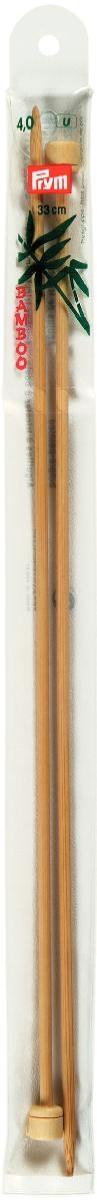 Спицы Prym, бамбуковые, прямые, диаметр 4 мм, длина 33 см, 2 шт221115Спицы для вязания Prym изготовлены из бамбука. Спицы прочные, легкие, гладкие, удобные в использовании. Ограничители препятствуют соскальзыванию петель. Бамбуковые спицы предназначены для вязания шапочек, варежек, носков и других вещей. Вы сможете вязать для себя и делать подарки друзьям. Рукоделие всегда считалось изысканным, благородным делом. Работа, сделанная своими руками, долго будет радовать вас и ваших близких.