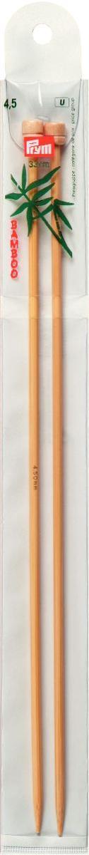 Спицы Prym бамбуковые, прямые, диаметр 4,5 мм, длина 33 см, 2 шт221116Спицы для вязания Prym изготовлены из бамбука. Спицы прочные, легкие, гладкие, удобные в использовании. Ограничители препятствуют соскальзыванию петель. Бамбуковые спицы предназначены для вязания шапочек, варежек, носков и других вещей. Вы сможете вязать для себя и делать подарки друзьям. Рукоделие всегда считалось изысканным, благородным делом. Работа, сделанная своими руками, долго будет радовать вас и ваших близких.