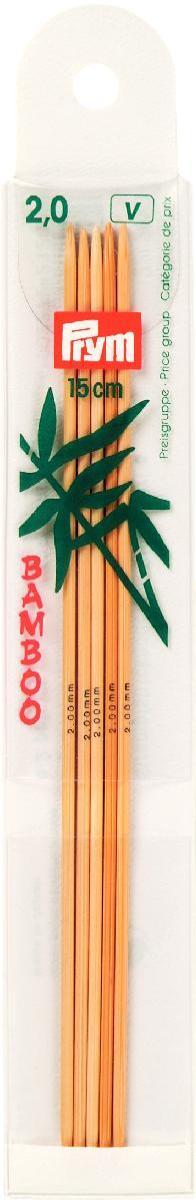Спицы чулочные Prym бамбуковые, прямые, диаметр 2 мм, длина 15 см, 5 шт221200Спицы для вязания Prym изготовлены из натурального бамбука. Спицы прочные, легкие, гладкие, удобные в использовании. Кончики спиц закругленные. Спицы без ограничителей предназначены для вязания шапочек, варежек и носков. Вы сможете вязать для себя и делать подарки друзьям. Рукоделие всегда считалось изысканным, благородным делом. Работа, сделанная своими руками, долго будет радовать вас и ваших близких.