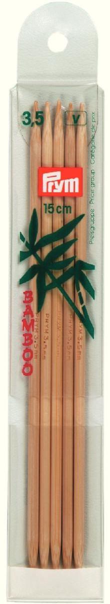 Спицы чулочные Prym бамбуковые, прямые, диаметр 3,5 мм, длина 15 см, 5 шт221203Спицы для вязания Prym изготовлены из натурального бамбука. Спицы прочные, легкие, гладкие, удобные в использовании. Кончики спиц закругленные. Спицы без ограничителей предназначены для вязания шапочек, варежек и носков. Вы сможете вязать для себя и делать подарки друзьям. Рукоделие всегда считалось изысканным, благородным делом. Работа, сделанная своими руками, долго будет радовать вас и ваших близких.