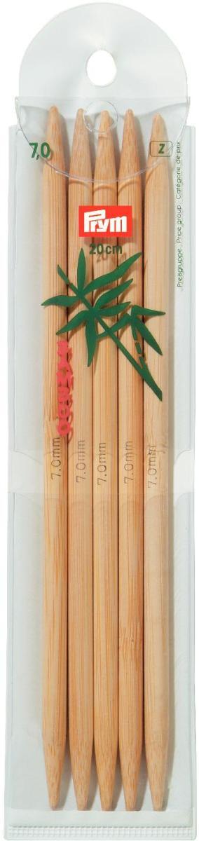 Спицы чулочные Prym бамбуковые, прямые, диаметр 7 мм, длина 20 см, 5 шт221218Спицы для вязания Prym изготовлены из натурального бамбука. Спицы прочные, легкие, гладкие, удобные в использовании. Кончики спиц закругленные. Спицы без ограничителей предназначены для вязания шапочек, варежек и носков. Вы сможете вязать для себя и делать подарки друзьям. Рукоделие всегда считалось изысканным, благородным делом. Работа, сделанная своими руками, долго будет радовать вас и ваших близких.