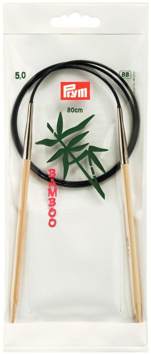 Спицы Prym, бамбуковые, круговые, диаметр 5 мм, длина 80 см221508Спицы для вязания Prym изготовлены из натурального бамбука. Кончики спиц закругленные. Спицы скреплены гибким пластиковым шнуром. Круговые спицы наиболее удобны для выполнения деталей и изделий, не имеющих швов. Короткими круговыми спицами вяжут бейки горловины, воротники-гольфы, длинными спицами можно вязать по кругу целые модели. Спицы прочные, легкие, гладкие, удобные в использовании. Вы сможете вязать для себя, делать подарки друзьям. Рукоделие всегда считалось изысканным, благородным делом. Работа, сделанная своими руками, долго будет радовать вас и ваших близких.