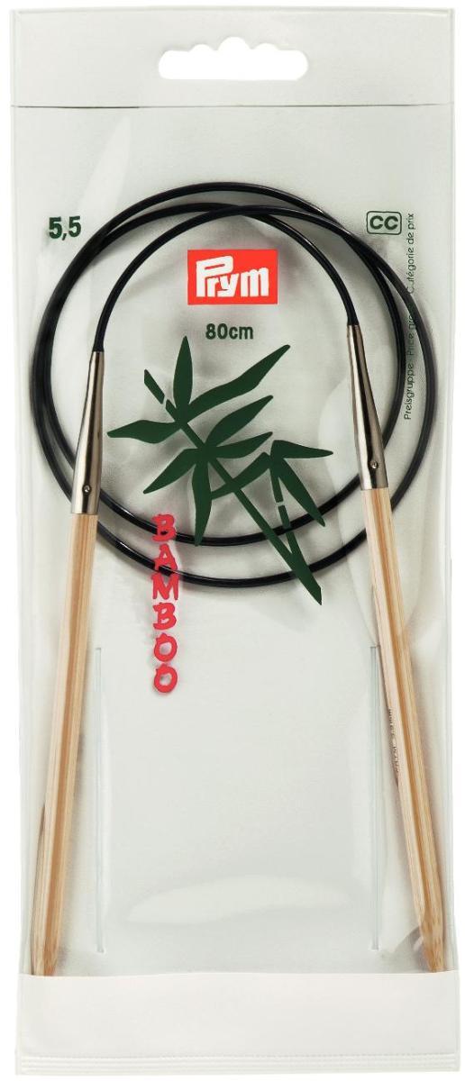 Спицы Prym, бамбуковые, круговые, диаметр 5,5 мм, длина 80 см221509Спицы для вязания Prym изготовлены из натурального бамбука. Кончики спиц закругленные. Спицы скреплены гибким пластиковым шнуром. Круговые спицы наиболее удобны для выполнения деталей и изделий, не имеющих швов. Короткими круговыми спицами вяжут бейки горловины, воротники-гольфы, длинными спицами можно вязать по кругу целые модели. Спицы прочные, легкие, гладкие, удобные в использовании. Вы сможете вязать для себя, делать подарки друзьям. Рукоделие всегда считалось изысканным, благородным делом. Работа, сделанная своими руками, долго будет радовать вас и ваших близких.