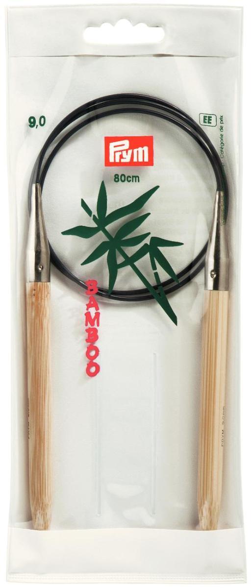Спицы Prym, бамбуковые, круговые, диаметр 9 мм, длина 80 см221539Спицы для вязания Prym изготовлены из натурального бамбука. Кончики спиц закругленные. Спицы скреплены гибким пластиковым шнуром. Круговые спицы наиболее удобны для выполнения деталей и изделий, не имеющих швов. Короткими круговыми спицами вяжут бейки горловины, воротники-гольфы, длинными спицами можно вязать по кругу целые модели. Спицы прочные, легкие, гладкие, удобные в использовании. Вы сможете вязать для себя, делать подарки друзьям. Рукоделие всегда считалось изысканным, благородным делом. Работа, сделанная своими руками, долго будет радовать вас и ваших близких.
