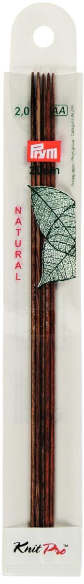 Спицы чулочные Prym Natural, деревянные, прямые, диаметр 2 мм, длина 20 см, 5 шт223140Спицы для вязания Prym Natural изготовлены из дерева. Спицы прочные, легкие, гладкие, удобные в использовании. Деревянные спицы предназначены для вязания чулок, шапочек, варежек, носков и других вещей. Вы сможете вязать для себя и делать подарки друзьям. Рукоделие всегда считалось изысканным, благородным делом. Работа, сделанная своими руками, долго будет радовать вас и ваших близких.