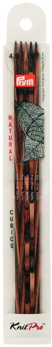 Спицы чулочные Prym Natural Cubics, деревянные, прямые, диаметр 4 мм, длина 20 см, 5 шт224144Спицы для вязания Prym Natural Cubics изготовлены из дерева. Спицы прочные, легкие, гладкие, удобные в использовании. Деревянные спицы предназначены для вязания чулок, шапочек, варежек, носков и других вещей. Вы сможете вязать для себя и делать подарки друзьям. Рукоделие всегда считалось изысканным, благородным делом. Работа, сделанная своими руками, долго будет радовать вас и ваших близких.