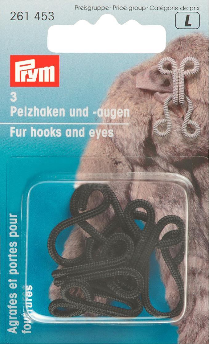 Крючки и петли для меховых изделий Prym, цвет: черный, 3 пары261453Крючки и петли для меховых изделий Prym выполнены из железа с защитой от коррозии, обтянутого нитью. В комплекте - 3 пары крючков и петель.