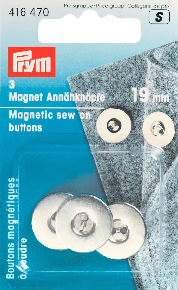 Пуговицы магнитные Prym, цвет: серебристый, 19 мм, 3 шт416470Магнитные пуговицы Prym выполнены из металла с защитой от коррозии, имеют цветное покрытие. Пуговицы предназначены для сумок и одежды.