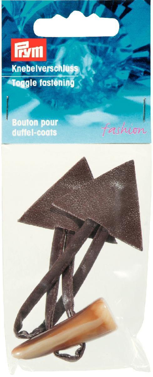 Застежка-клевант Prym, цвет: коричневый, 15 х 5 см417710Застежка-клевант Prym выполнена из искусственной кожи и состоит из петли, пуговицы и детали крепления треугольной формы. Сейчас подобные застежки играют роль не только застежки, ни и как украшение самой вещи. Клевант использует для трикотажных изделий для пиджаков, курток и пальто.