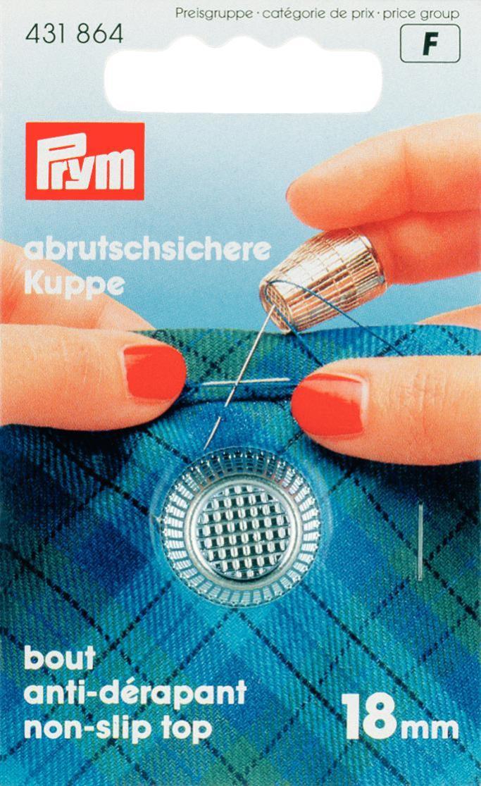 Наперсток Prym, 18 мм431864Наперсток Prym изготовлен из цинка с хромированным покрытием. Оснащен кантом против скольжения. Наперстки предназначены для защиты пальцев во время шитья.