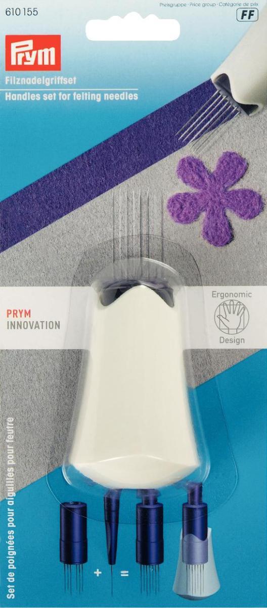 Набор держателей игл для валяния Prym, цвет: белый, фиолетовый610155Набор Prym состоит из держателя для 6 игл, держателя для 1 иглы и эргономичной ручки, предназначенных для валяния. Изделие выполнено из цветного пластика, подходит для игл длиной 78-90 мм. УВАЖАЕМЫЕ ПОКУПАТЕЛИ! Обращаем ваше внимание на то, что иглы в комплект не входят.