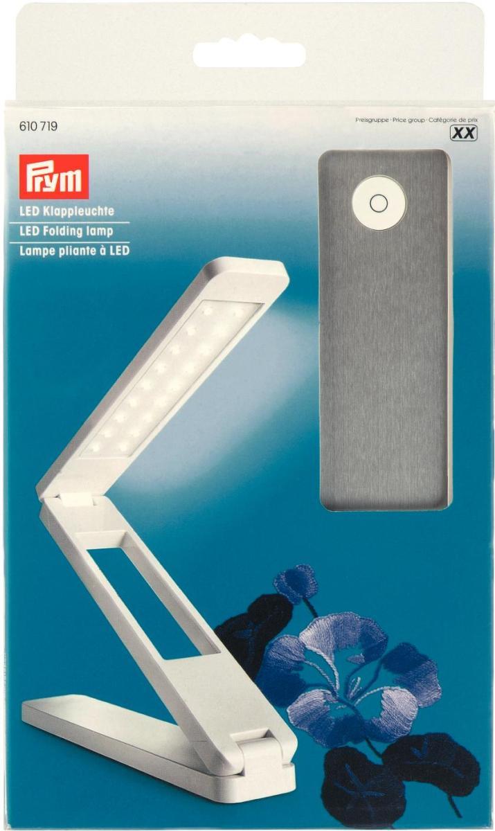 """Лампа складная """"Prym"""", светодиодная, цвет: белый, серебристый"""