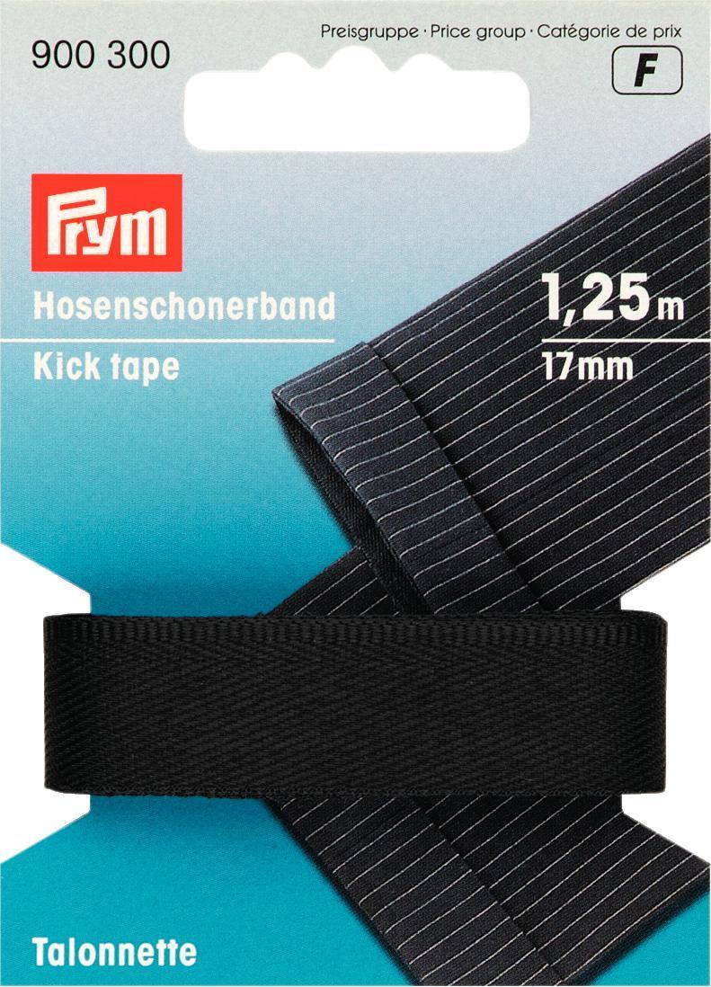 Тесьма для брюк Prym, цвет: черный, 17 мм, 1,25 м900300Тесьма для брюк Prym - это неэластичная лента, выполненная из 100% полиэстера. Предназначена для обработки и укорачивания низа штанин. В основном используется для классических мужских брюк. Тесьма предохраняет край брюк от быстрого изнашивания, утяжелят брюки, что дает более четкое выравнивание штанины, а также держит форму стрелок по подгибу.