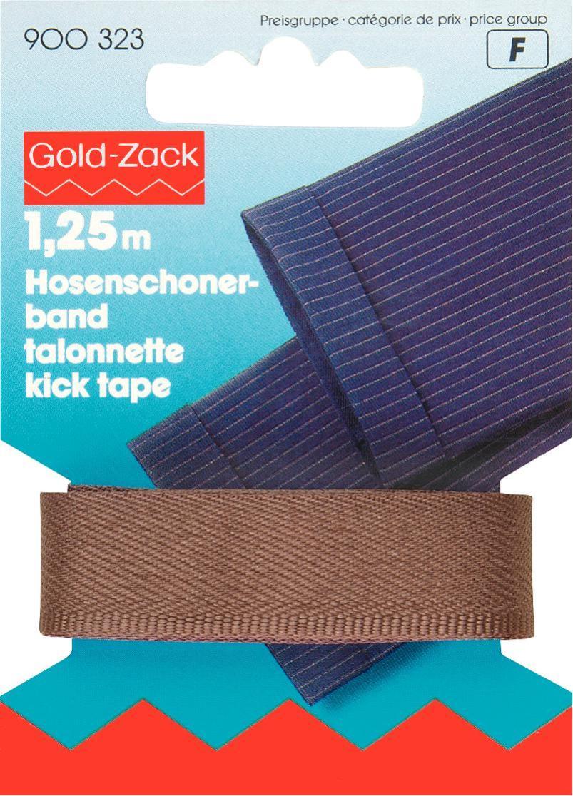 Тесьма для брюк Prym, цвет: коричневый, 17 мм, 1,25 м900323Тесьма для брюк Prym - это неэластичная лента, выполненная из 100% полиэстера. Предназначена для обработки и укорачивания низа штанин. В основном используется для классических мужских брюк. Тесьма предохраняет край брюк от быстрого изнашивания, утяжелят брюки, что дает более четкое выравнивание штанины, а также держит форму стрелок по подгибу.