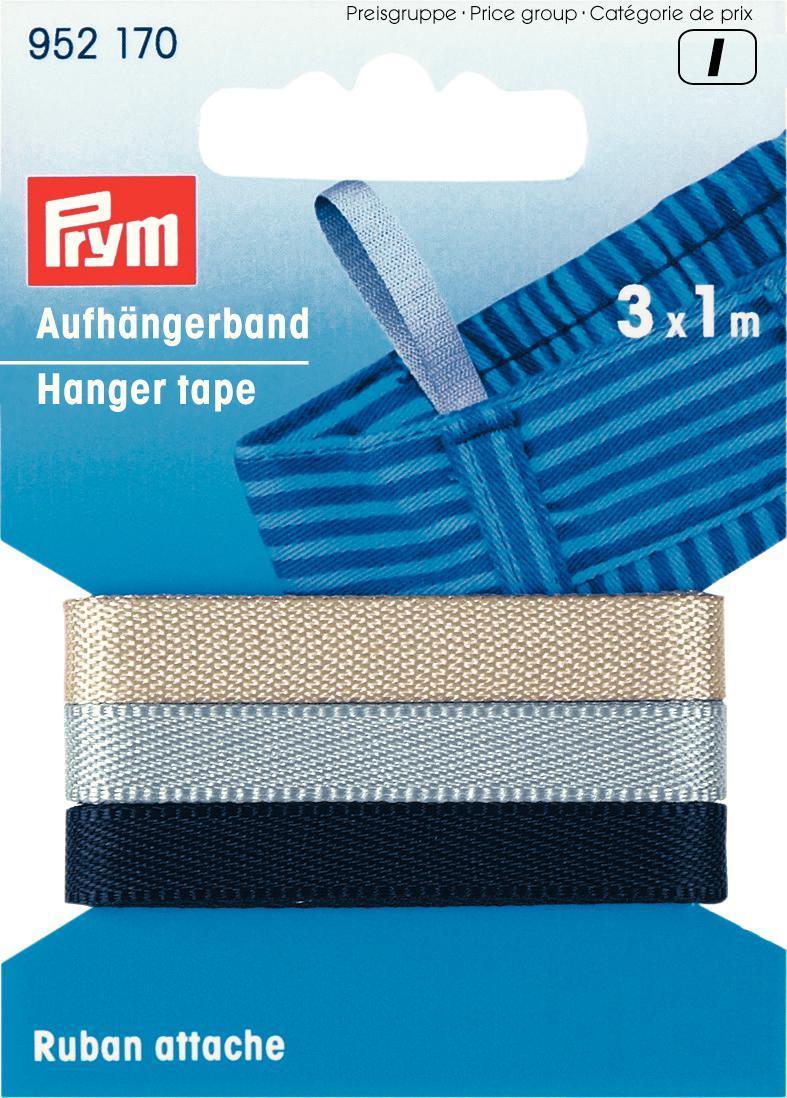 Лента для вешалок Prym, цвет: черный, серый, бежевый, 5 мм, 1 м, 3 шт952170Лента для вешалок Prym - это неэластичная лента, выполненная из 100% полиэстера. Предназначена для крепления петелек к одежде. С помощью таких петелек одежда надежно будет держаться на вешалке и никогда не упадет. Такие ленты идеально подходят для брюк, джинсов, юбок. Разнообразие цветов позволит подобрать нужную вам по цвету ленту.