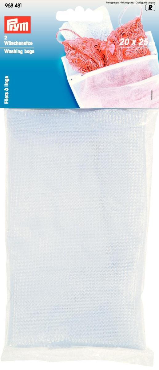 Мешки для стирки Prym, цвет: белый, 20 х 25 см, 2 шт968481Мешки Prym на молнии для стирки белья изготовлены из полиэстера. Предназначены для бережной стирки, отжима и сушки белья в стиральной машине. В комплекте - 2 мешка. Они предохраняют вещи от зацепок и растягивания, исключают попадание мелких вещей и элементов одежды в механизм машины. Комплектация: 2 шт. Размер: 20 см х 25 см.