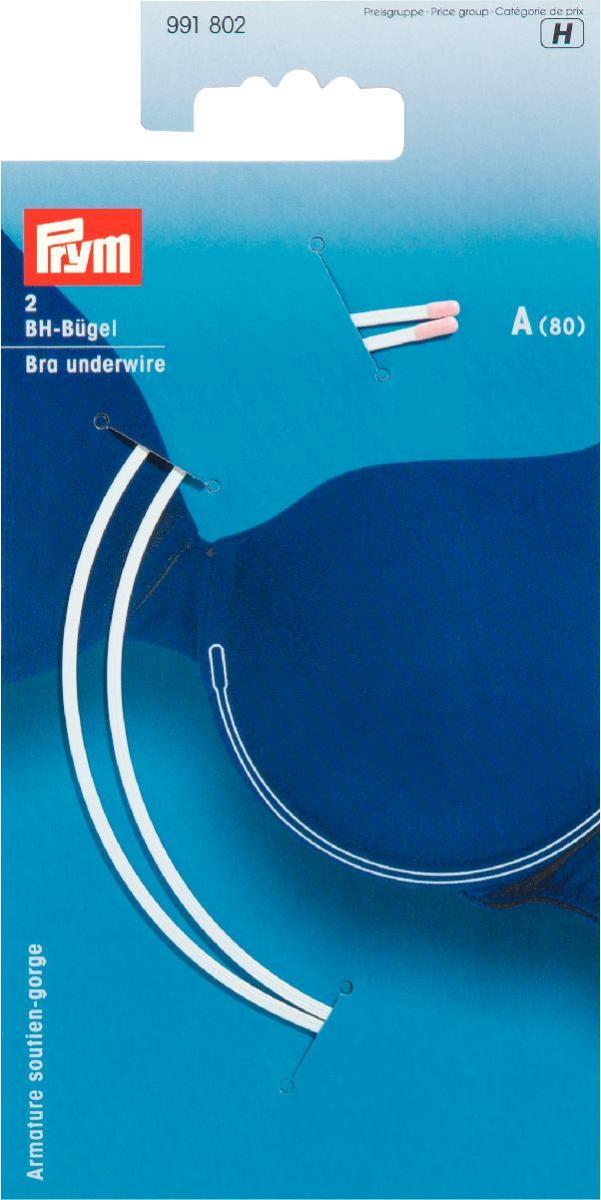 Косточки для бюстгальтера Prym, цвет: белый, размер А (80), 2 шт991802Косточки для бюстгальтера Prym изготовлены из оцинкованной стали в нейлоновой оболочке. Изделия, выполненные в форме полукруга, предназначены для изготовления или ремонта бюстгальтеров. В комплекте - 2 косточки.