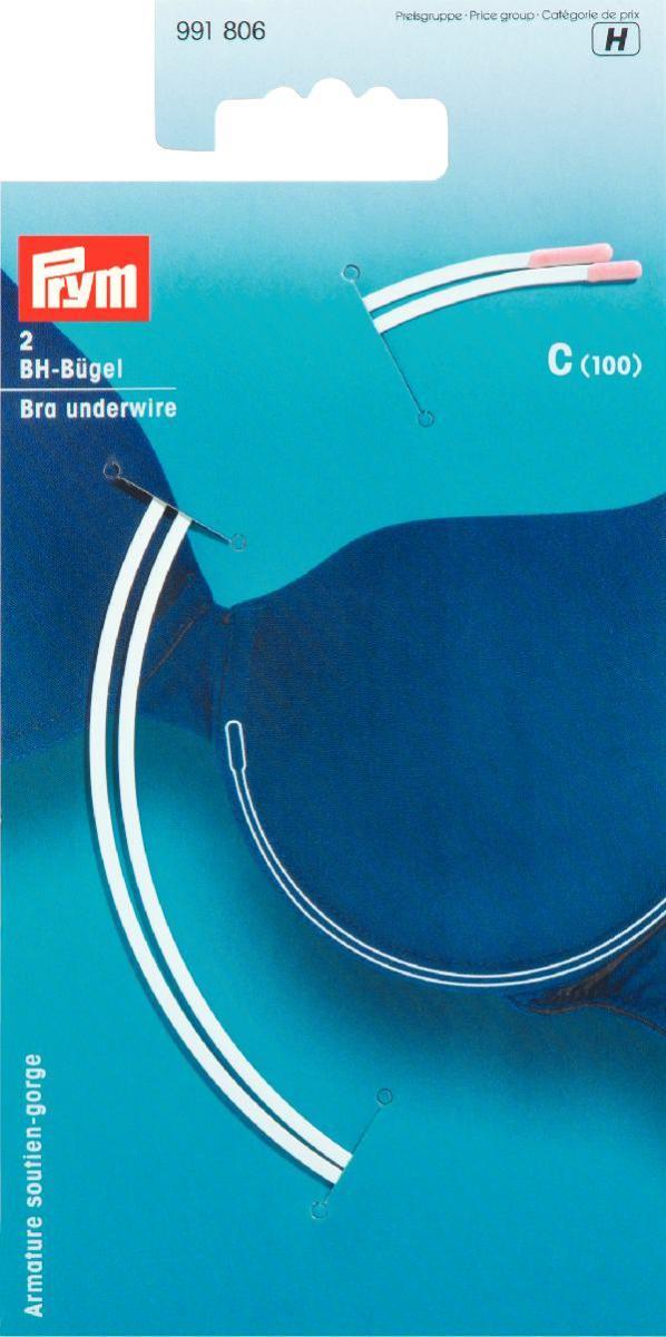 Косточки для бюстгальтера Prym, цвет: белый, размер C (100), 2 шт991806Косточки для бюстгальтера Prym изготовлены из оцинкованной стали в нейлоновой оболочке. Изделия, выполненные в форме полукруга, предназначены для изготовления или ремонта бюстгальтеров. В комплекте - 2 косточки.