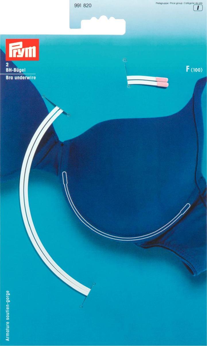 Косточки для бюстгальтера Prym, цвет: белый, размер F (100), 2 шт991820Косточки для бюстгальтера Prym изготовлены из оцинкованной стали в нейлоновой оболочке. Изделия, выполненные в форме полукруга, предназначены для изготовления или ремонта бюстгальтеров. В комплекте - 2 косточки.