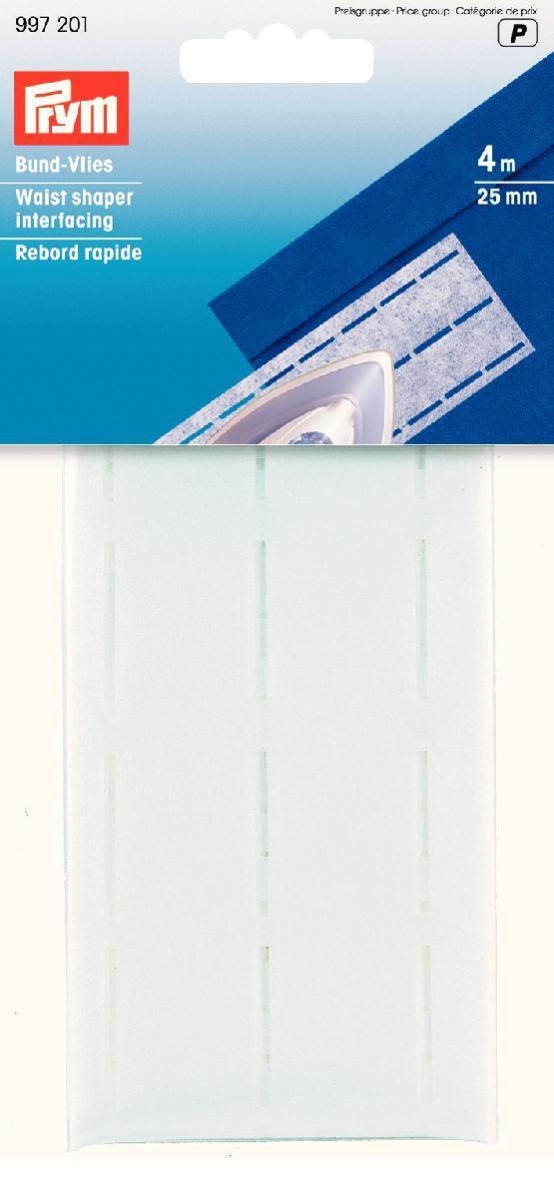 Лента флизелиновая Prym для пояса, цвет: белый, ширина 2,5 см, длина 4 м997201Флизелиновая лента Prym, изготовленная из 60% полиэстера и 40% целлюлозы, предназначена для обработки поясов, срезов, шлиц, обтачек и листочек. Лента оснащена тремя перфорированными линиями. Перфорированные ленты гарантируют рациональность обработки и безукоризненный вид пояса. Простота перегиба вдоль линии перфорации значительно облегчает обработку. Флизелин хорошо зарекомендовал себя в перфорированных лентах. Он придает поясу стабильность, предохраняя его от растяжения.