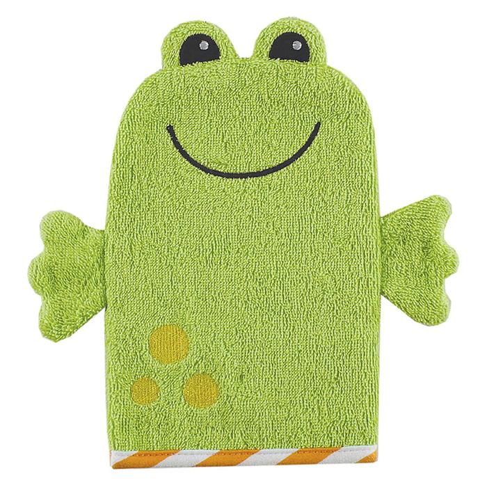 Варежка-мочалка детская Luvable Friends Лягушка, цвет: зеленый05920Варежка-мочалка для детей Luvable Friends Лягушка создана для купания самых маленьких. Варежка выполнена из 100% хлопка в виде забавной улыбающейся лягушки, которая надевается на руку. Мягкая ткань нежно массирует, удаляя загрязнения, оставляя кожу малыша чистой. Через ткань малыш чувствует руку мамы. Варежка непременно привлечет внимание крохи и станет прекрасным поводом помыться самостоятельно, когда ваш ребенок подрастет.
