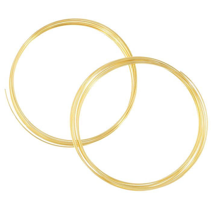 Проволока для браслета Астра, с памятью, цвет: золотистый, 0,6 мм, 2 шт. 77051247705124_золотоПроволока Астра, изготовленная из металла, используется для создания браслетов. Проволока с памятью - это жесткая проволока, закрученная в кольца с различным диаметром. Она хорошо держит форму кольца, и ее трудно согнуть как то иначе. Изделие изготавливают из разных металлов и покрывают лаками разных цветов, благодаря чему она обладает прекрасными декоративными свойствами. Проволока является хорошим материалом для плетения, а для достижения эффектного украшения можно сочетать несколько цветов проволоки.