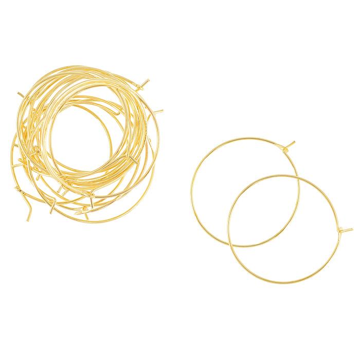 Основа для серег Астра Кольцо с замком, цвет: золотистый, 0,7 мм х 25 мм, 20 шт7704263_золотоКомплект Астра Кольцо с замком состоит из 20 круглых основ, которые изготовлены из металла с замком. С этими основами вы сможете легко сделать прекрасные сережки. Радуйте себя и своих близких украшениями сделанными своими руками!