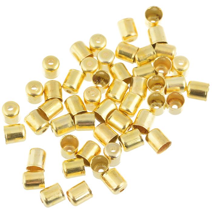 Шапочка для бусин Астра, цвет: золотистый, 6 мм х 5 мм, 50 шт. 77057147705714Набор Астра, изготовленный из металла, состоит из 50 шапочек для бусин. Набор позволит вам своими руками создать оригинальные ожерелья, бусы или браслеты. Шапочки обрамляют бусины и придают законченный красивый вид изделию. Их можно крепить как с одной, так и с обеих сторон бусины. Это прекрасная фурнитура для создания бижутерии. Изготовление украшений - занимательное хобби и реализация творческих способностей рукодельницы, это возможность создания неповторимого индивидуального подарка.