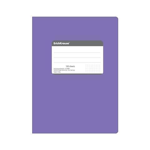 Erich Krause Тетрадь общая В5, FLUOR, 120 листов, клетка27969Тетрадь 240 страниц, титульная этикетка для записи персональных данных основной блок-клетка, гибкая обложка, шитый блок, скрепленный полиуретаном, закругленные уголки. Белая бумага 70г/м2