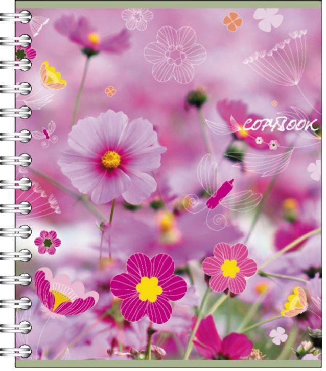 Полиграфика Тетрадь на спирали, 60л Полевые цветы33586Обложка:картон мелованный 170 г/м2. Блок: бумага офсетная 55 г/м2