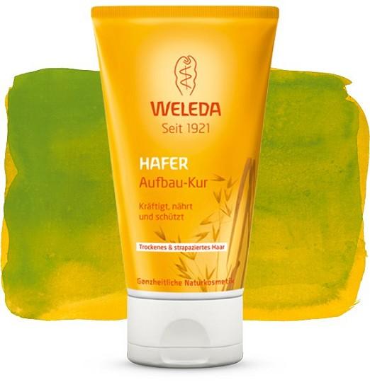 Weleda Маска для волос, восстанавливающая, с экстрактом овса, 150 млYASH64503Маска для волос Weleda укрепляет, питает и защищает волосы. Обладающая нежным ароматом маска с органическим маслом жожоба, маслом ши и экстрактом овса укрепляет и разглаживает поверхность волоса, интенсивно ухаживает за волосами не утяжеляя их и дарит им увлажненность. Мягкая рецептура создана для восстановления здоровья кожи головы и естественной красоты Ваших волос. Продукты не содержат ингредиентов на основе минеральных масел, а так же синтетических ароматизаторов, красителей и консервантов. Не содержит силикона. Протестировано дерматологами. Товар сертифицирован.