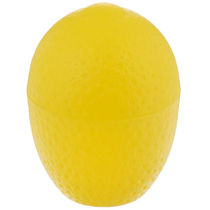 Контейнер для лимона Fackelmann, цвет: желтый47375Контейнер Fackelmann выполнен из цветного пластика в форме лимона. Контейнер предназначен для хранения нарезанных лимонов и лаймов. Контейнер для лимона Fackelmann станет незаменимым атрибутом на кухне каждой хозяйки.