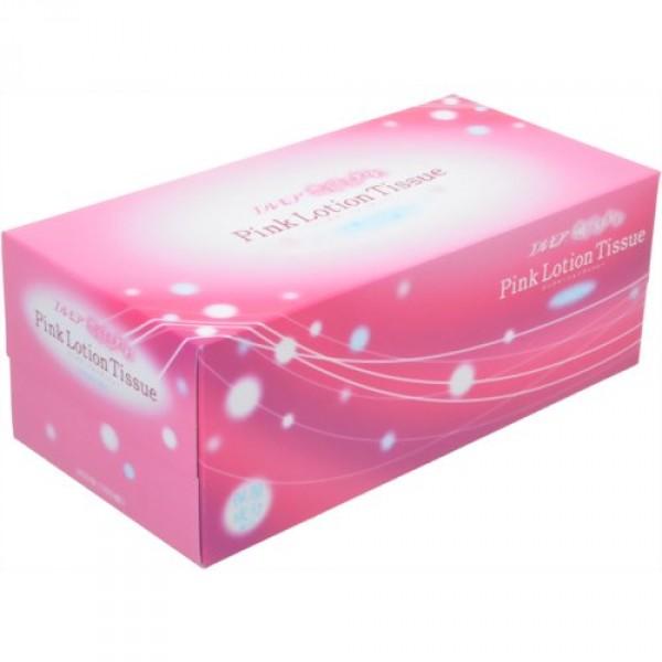 """Салфетки бумажные Ellemoi """"Pink Lotion Tissue"""", двухслойные, 180 шт"""