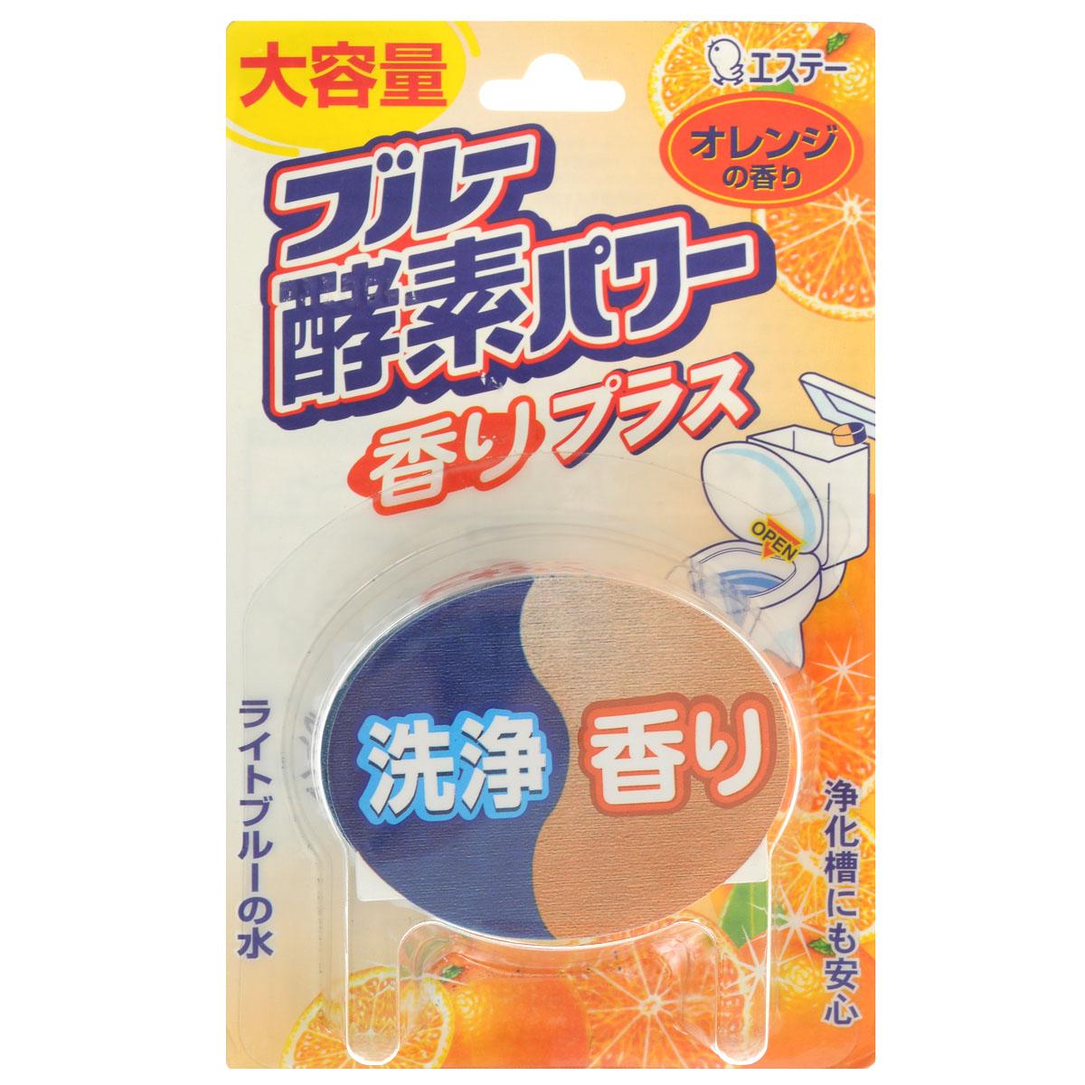 Таблетка очищающая ST Blue Enzyme Power для бачка унитаза, с ароматом апельсина, 120 г115426Ароматизирующая таблетка ST Blue Enzyme Power с ферментам, предназначена для очищения и дезинфекции унитаза. Таблетка для унитаза содержит энзимы, расщепляющие стойкие загрязнения. Таблетка создает ощущение чистоты и свежести, распространяя аромат апельсина и окрашивая воду в голубой цвет. Достаточно положить таблетку в сливной бачок и вода голубого цвета вымоет и продезинфицирует внутреннюю часть унитаза. В состав входит хелатный агент, который обволакивает взвесь грязи в воде, а также удаляет ржавчину и препятствует загрязнению внутренней поверхности унитаза. Большой объем продукта гарантирует длительное использование. Не кладите таблетку в центр бачка, чтобы избежать закупоривания. Не хранить в местах, доступных для детей. Хранить при комнатной температуре вдали от отопительных приборов и действия прямых солнечных лучей. Состав: отдушка, анионное поверхностно-активное вещество, краситель, хелатный агент, энзимы, отбеливатель. Товар...