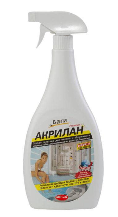 Средство для чистки и обновления эмалированных ванн Bagi Акрилан, 500 млBG-B-310546-0