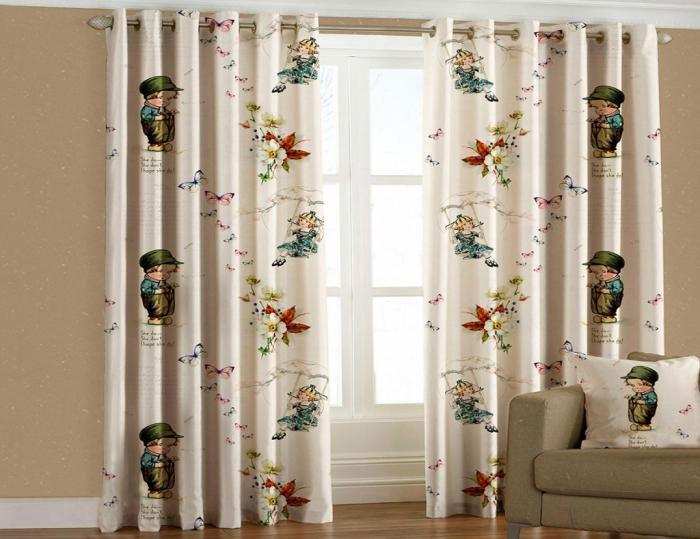 Штора Garden Ребенок, на ленте, 150*270 см, 2 штW678(1223)V419Комплект Garden Ребенок включает в себя 2 готовые шторы, выполненные из высококачественного полиэстера с цифровой печатью с изображением детей, бабочек и цветов. Лицевая сторона штор гладкая с легким блеском, изнаночная матовая. Оригинальный дизайн и цветовая гамма украсят любое окно и привлекут к себе внимание. Шторы крепятся на карниз при помощи вшитой шторной ленты, которая поможет красиво и равномерно задрапировать верх.